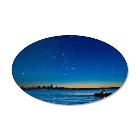 Orion over Vancouver, Canada 35x21 Oval Wall Decal