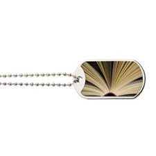 Open book Dog Tags