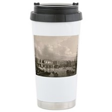 Old London Bridge, 1745 Ceramic Travel Mug