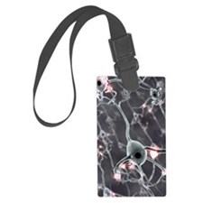 Neural network, computer artwork Luggage Tag