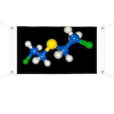 Mustard gas molecule Banner