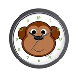 Mona the Monkey Wall Clock