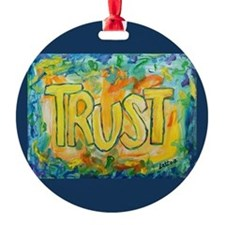Trust Word Art Ornament