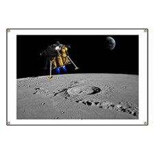 Moon lander, artwork Banner