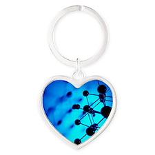 Molecular model Heart Keychain