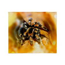 Mexican red-leg tarantula Throw Blanket