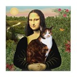 Mona's Calico Cat Tile Coaster