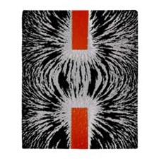 Magnetic attraction Throw Blanket