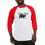 Creeping Border Collie Baseball Jersey