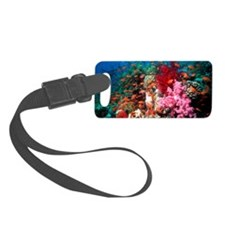Lyretail anthias and soft corals Luggage Tag
