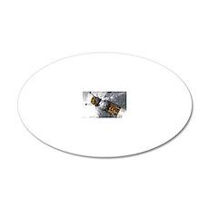 Lunar tug and lander, artwor 20x12 Oval Wall Decal