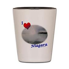 I Love Niagara Falls Shot Glass