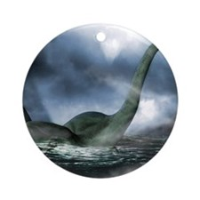 Loch Ness monster, artwork Round Ornament