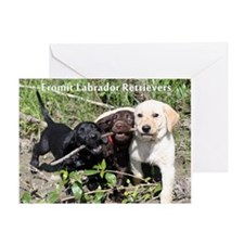 Eromit- Lab puppies Greeting Card