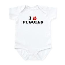 I Heart (Pawprint) Puggles Onesie