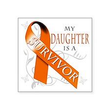 """My Daughter is a Surivovr Square Sticker 3"""" x 3"""""""