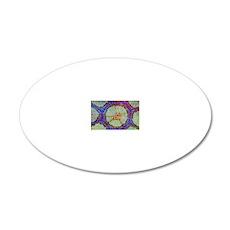 Liana stem, light micrograph 20x12 Oval Wall Decal