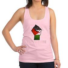 Free Palestine White Racerback Tank Top