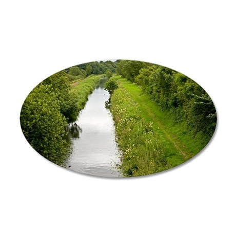 Lancaster Canal, UK 35x21 Oval Wall Decal