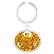 warrant officer eagle Oval Keychain