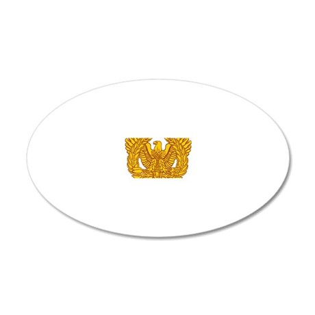 warrant officer eagle 20x12 Oval Wall Decal