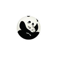 Panda Cuddles Mini Button (10 pack)