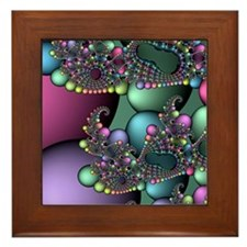 Julia fractal Framed Tile