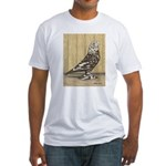 Brown Mottle West Fitted T-Shirt