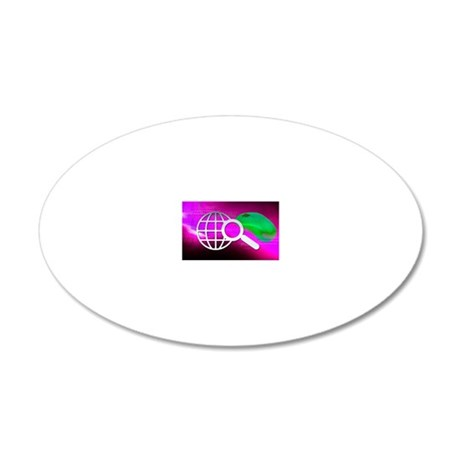Internet search, conceptual  20x12 Oval Wall Decal