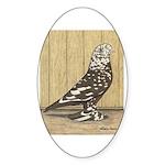 Brown Mottle West Oval Sticker