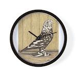 Brown Mottle West Wall Clock