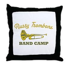 Rusty Trombone Throw Pillow
