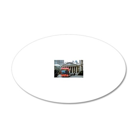 Hydrogen-powered bus 20x12 Oval Wall Decal