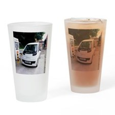 Hydrogen fuel cell car Drinking Glass