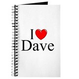 """I Love (Heart) Dave"" Journal"