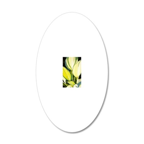 Hosta 'Remember Me' 20x12 Oval Wall Decal