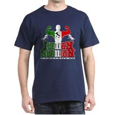 Classic Italian Stallion Navy Blue T-Shirt
