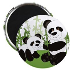 Panda Bamboo Family Magnets
