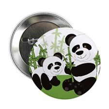 "Panda Bamboo Family 2.25"" Button (100 pack)"