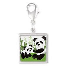 Panda Bamboo Family Charms