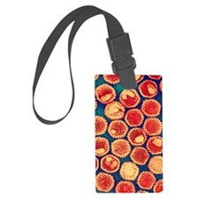Herpes virus particles, TEM Luggage Tag