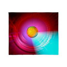 Higgs Boson particle, artwork Throw Blanket