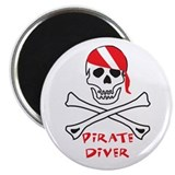 "Pirate Diver 2.25"" Magnet (10 pack)"