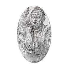 Hannibal, Carthaginian gener 35x21 Oval Wall Decal