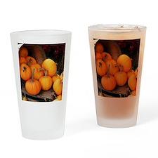 Harvested pumpkins Drinking Glass
