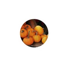 Harvested pumpkins Mini Button