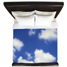 Clouds against a blue sky King Duvet