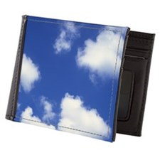 Clouds against a blue sky Mens Wallet