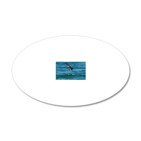 Great frigatebird and blue-f 20x12 Oval Wall Decal