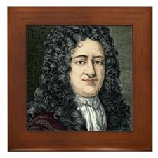 Gottfried Leibniz, German mathematicia Framed Tile